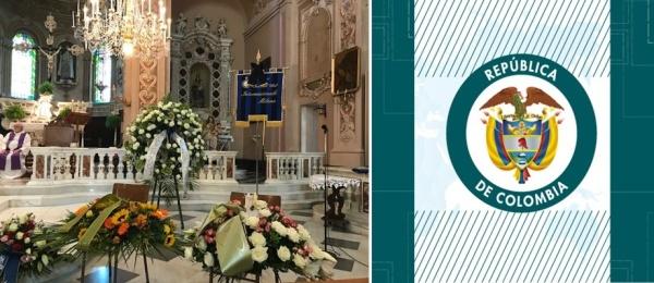 La Cónsul de Milán acompaña a familiares y amigos en el sepelio del colombiano, víctima de la tragedia del puente de Génova