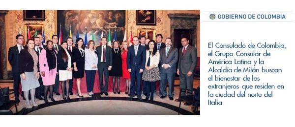 El Consulado de Colombia en Milán, el Grupo Consular de América Latina y la Alcaldía de Milán buscan el bienestar de los extranjeros que residen en Italia